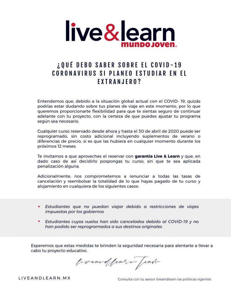 comunicado-live-learn-covid19-covid-coronavirus-viajes-estudiar-extranjero